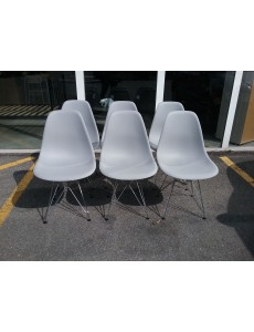 CHAISE MODERNE GRISE X 6...