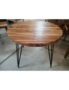 TABLE RONDE LAMINÉE TECK 90CM