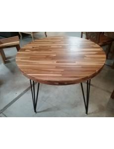 TABLE RONDE LAMINÉE TECK 100CM